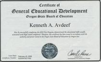 Ged diploma cv