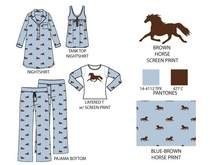 Potpourri project 8 blue brown horse print .ai cv