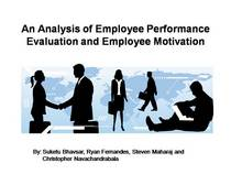 Presentation   an analysis of employee performance evaluation and employee motivation cv