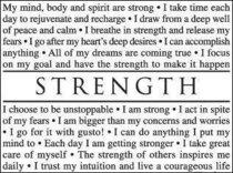Strength cv
