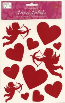 Valentine cupid stickers 9 5 10 cv