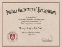 Dean s list certificate cv