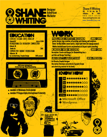 Shanes graphic resumeyellow cv