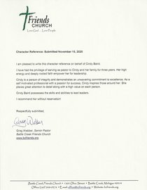 Pastor greg reference cv