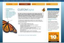 Custom digita website screenshot cv