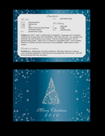 Holiday recipe card cv