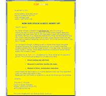Sales letter cv