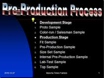 Pre production process cv