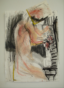 Piano man 2 mixed media 30 x20 2010 cv