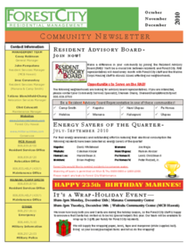 External newsletter front page cv