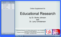 Online supplement for educational research cv