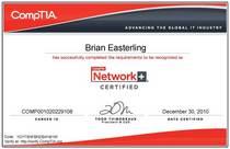 Network cert cv