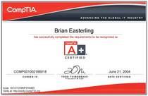 Comptia a  certificate 1  cv
