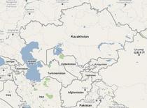 Google mapscentral asia map cv