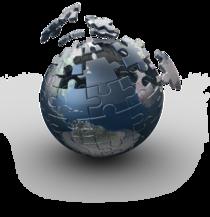 Globe puzzle pieces cv