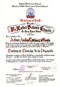 Titulo dr. arlines cv
