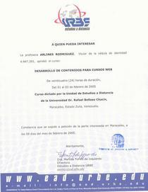 Constancia curso web cv