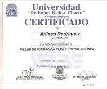 Certificado docente virtual   arlines cv