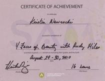Certificate 1 cv