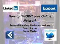 Social networking presentation cover cv