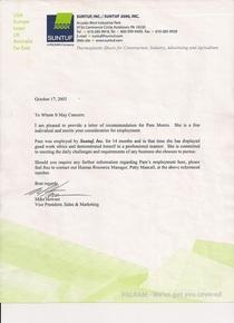 Suntuf letter 2011 cv