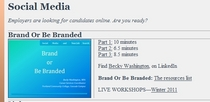 Brand or be branded seminar online cv