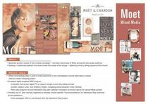 Moet chandon mixed media cv