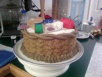 Sewing basket cake cv