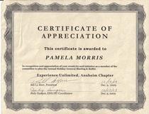 Edd certificate of appreciation cv