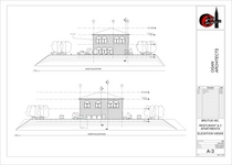 Restaurant elevations a 3 views cv