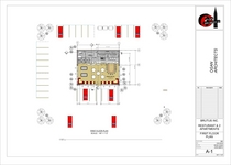 Restaurant elevations first floor plan cv