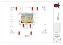 Restaurant elevations first floor plan cv