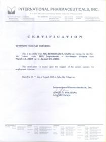 Certificate ojt 1  cv