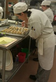 Fran making petit fours cv
