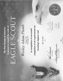 Eagle scout award cv