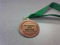Prt best email bronze award 2010 cv
