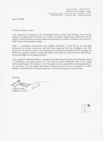 Sarah recommendation letter   greg iboshi june 2008 cv