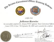 Cota certificate cv