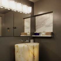 Four seasons powder room light sink cv