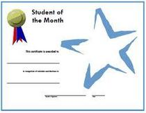 Student of the month cv