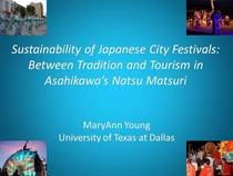 Sustainability of japanese city festivals aspac cv
