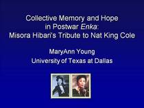 Collective memory and hope in postwar enka misora hibari s tribute to nat king cole cv