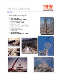 Communication tower projects cv