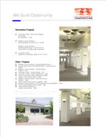 Renovation projects cv