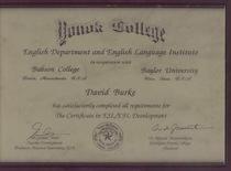 Esl efl certificate david j burke cv