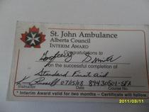 First aid cv
