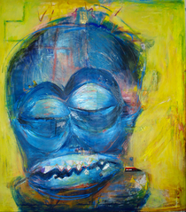 Obsolete man oil and mixed media 50 x48 2010 cv