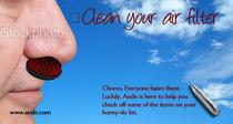 Clean your air filter cv