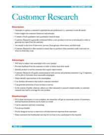 Cust research cv
