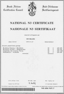 N3 technical certificate mb cv